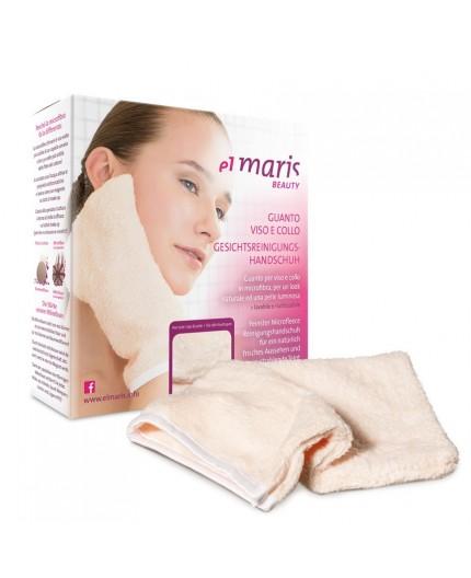 Guanto struccante in fibra per viso, collo e corpo. Demake-up solo con acqua